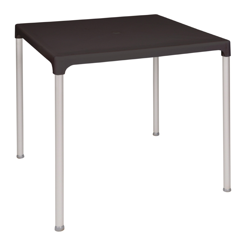 lightweight Bolero Black Square Table is easy to move