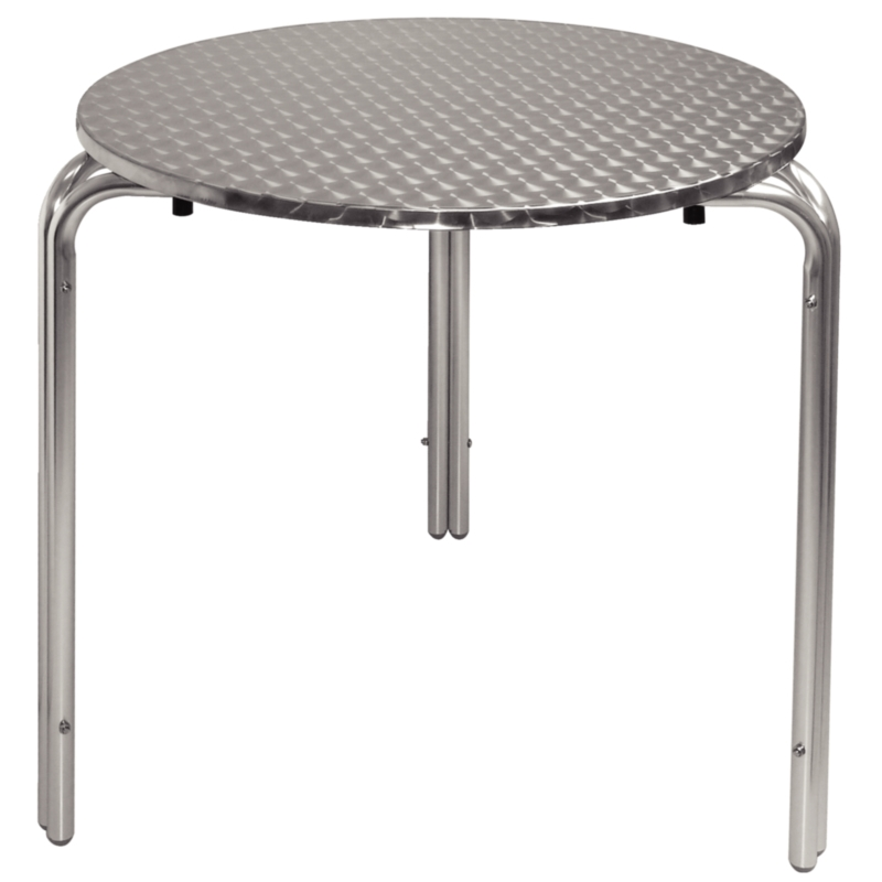 Bolero Round Bistro Table with three legs for a sturdy finish