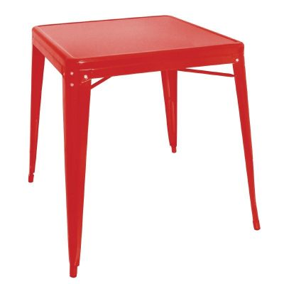 striking Bolero Steel Bistro Table Red metal