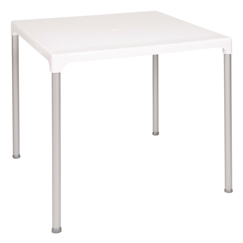 Bolero White Square Table modern and easy clean