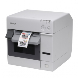 Epson ColorWorks C3400 prints labels for shops or food outlets