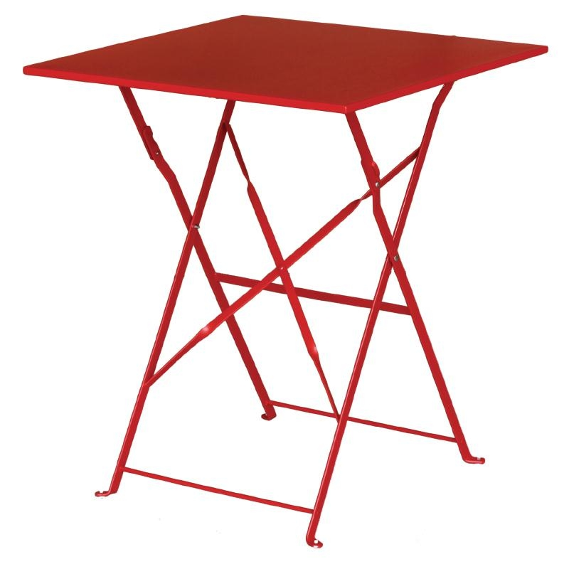 lovely modern stylish Bolero Steel Table Red colour finish