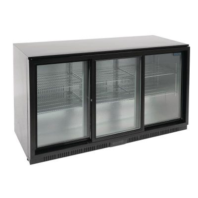 Polar Triple Sliding Door Back Bar Cooler large capacity for busy bars