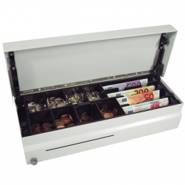 space saving rugged Cash Bases CostPlus Flip Lid Till Drawer