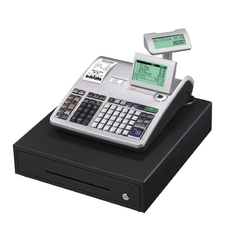 Casio Cash Register SE-S3000 cash till has two thermal printers