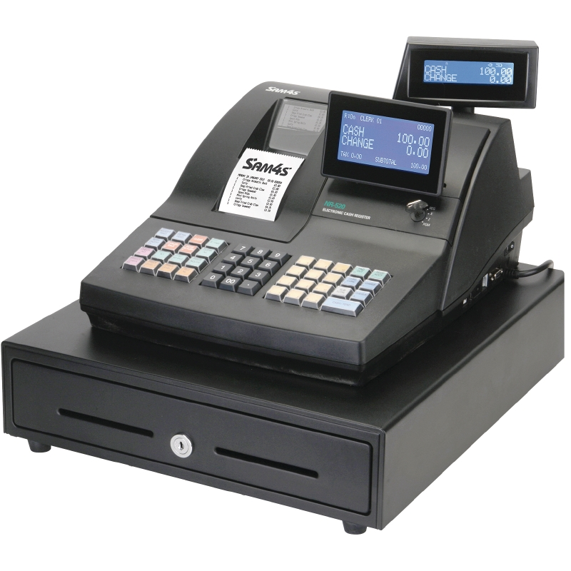the SAM4S Cash Register NR-520 model is a powerful till