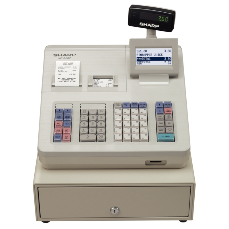 modern till Sharp Cash Register XE-A307